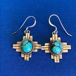 Jewelry - Sterling and turquoise southwest earrings
